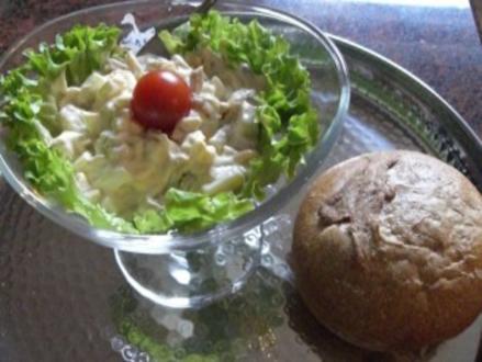 Salatbar:   EIERSALAT - Rezept