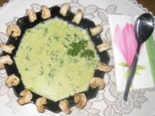 Suppen – Gebratene Garnelen an Petersiliensüppchen - Rezept