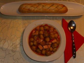 Eintöpfe: Rosenkohl - Paprika - Topf - Rezept