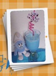 Eiskalte Schlumpf-Milch - Rezept