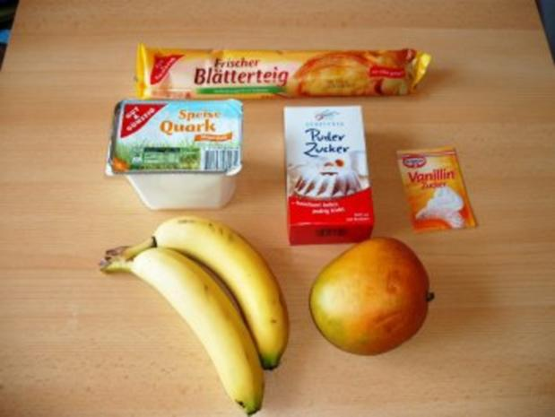 Mango-Bananen Quark auf Blätterteig - Rezept - Bild Nr. 2