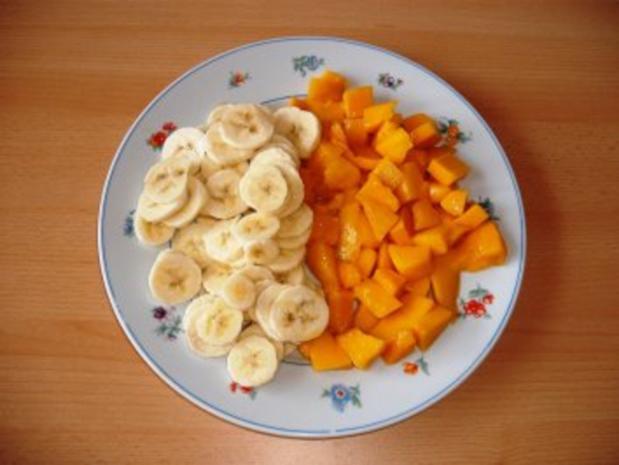 Mango-Bananen Quark auf Blätterteig - Rezept - Bild Nr. 3