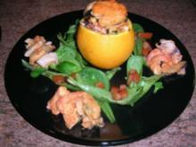Meeresfrüchte in Orangen geröstet - Rezept