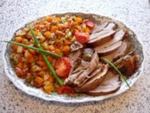 Putenoberkeule  mit Gemüse - Rezept