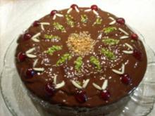 Zebrakuchen im Schokomantel - Rezept
