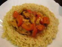 Pollo al adobo con la vera de arroz - Marinierte Hähnchenbrust im Reisrand - Rezept