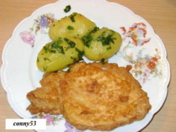 Orginal Wienerschnitzl mit Petersilkartoffel - Rezept