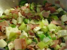 Porree/Schinkensalat mit Hirtenkäse - Rezept