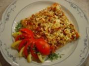 Pizza mit Eismeer-Garnelen und Schafskäse - Rezept