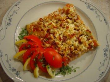 Rezept: Pizza mit Eismeer-Garnelen und Schafskäse