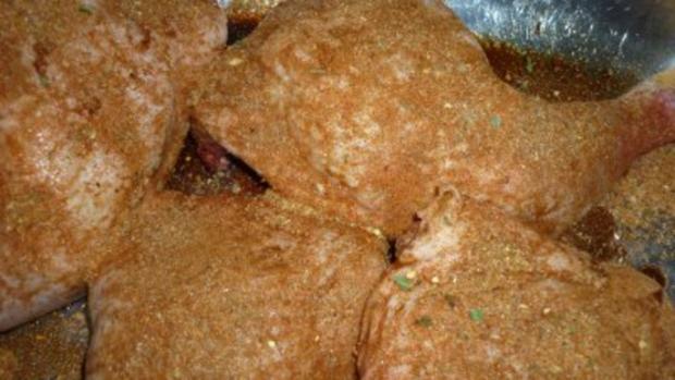 Ras El Hanout-Hähnchen mit buntem Nudelsalat - Rezept - Bild Nr. 2