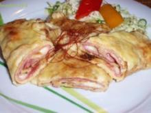 Schinken-Käse Pfannkuchen - Rezept