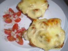 Überbackener Champignon Toast - Rezept
