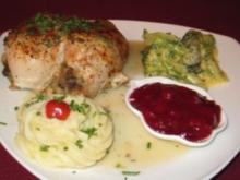 Stuffed Chicken With Cranberry Compote - Rezept