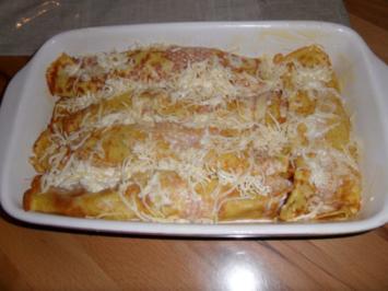Pfannkuchen mit pikanter Fülle - Rezept