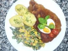 Nackenkotelett mit Mangoldgemüse an Curry-Calvadosrahm - Rezept