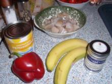 Fischcurry mit Banane und Ananas - Rezept
