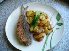 Bratkartoffeln mit  Brathering - selbstgemacht - - Rezept