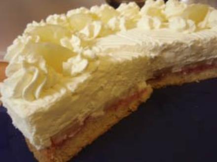 Torte: Topfen-Joghurt-Ananas-Sahnetorte - Rezept