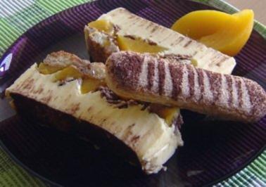 Pfirsich-Joghurt-Dessert - Rezept