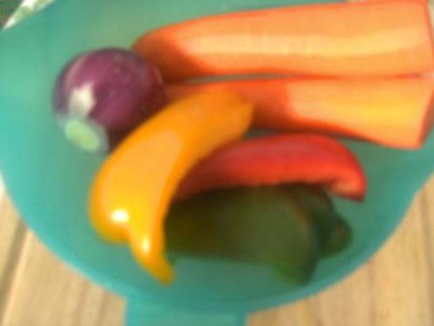 Hähnchenbrust gebraten in Salbeibutter  Rahm-Gemüse und gedünsteten Zwiebeln - Rezept - Bild Nr. 2