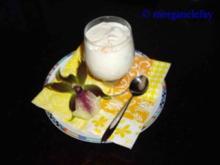 Quark mit Pfirsichen - Rezept