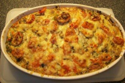 Aus dem Backofen-Kartoffel- Pilz - Auflauf - Rezept