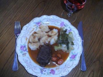 Fleisch: Schweinebäckchen geschmort - Rezept