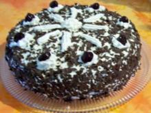 Backen: Schwarzwälder Kirschtorte mit leckerem Schokoboden - Rezept