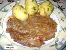Zwiebelrostbraten mit Frühlingskartoffel - Rezept