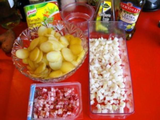 Warmer Kartoffelsalat mit Kasseler-Lachse - Rezept - Bild Nr. 3