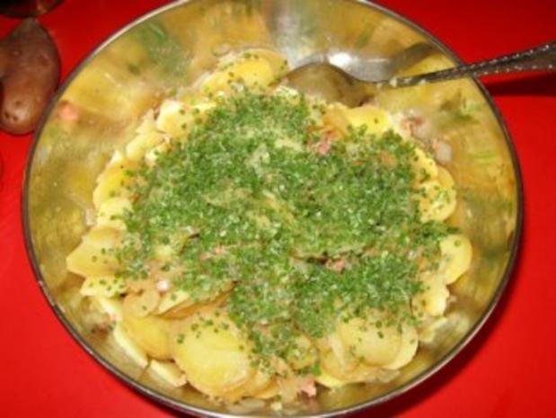 Warmer Kartoffelsalat mit Kasseler-Lachse - Rezept - Bild Nr. 7