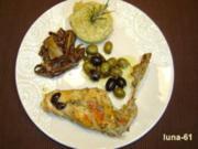 CONIGLIO ALLE OLIVE - Kaninchen mit Oliven - Rezept