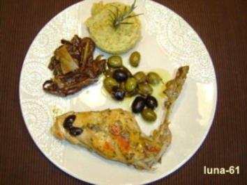Rezept: CONIGLIO ALLE OLIVE - Kaninchen mit Oliven
