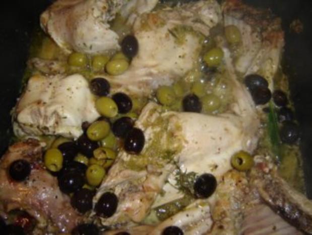 CONIGLIO ALLE OLIVE - Kaninchen mit Oliven - Rezept - Bild Nr. 6