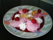 Frischkäsemousse mit Himbeeren - Rezept