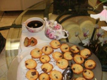 Rezept: Muffins Mini:  Rum- Schokolate Chips gefuellte kleine Muffins - Gefuellt -Elegant fuer Besuch zum Kaffee