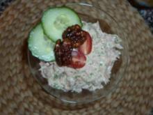Thunfisch-Schafskäsecreme mit Vollkorncrackern - Rezept
