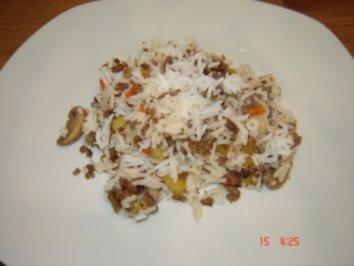Reispfanne mit Hackfleisch - Rezept