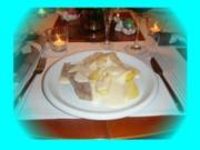 Tafelspitz mit Kartoffeln, Sauerkraut und Meerrettichsoße - Rezept
