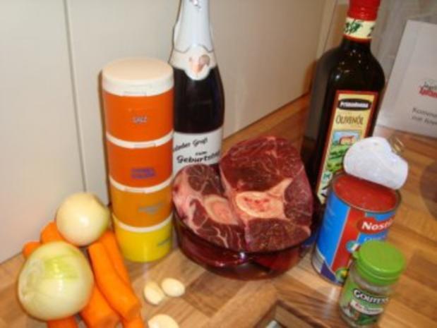 Hauptgericht - Rind - Ossobuco mit Rinderbeinscheiben - schnell - Rezept - Bild Nr. 3