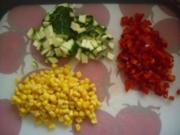 Gemischter Zucchini-Paprika-Mais Salat - Rezept