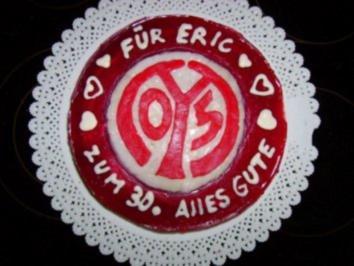 Kuchen: Kirsch Quark  Torte... für einen *Mainzer* Fußball Fan - Rezept