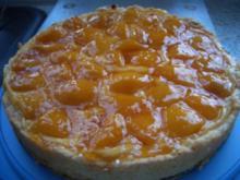 Pfirsisch Pudding-Kuchen - Rezept
