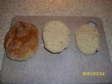 Frühstücks-Brötchen, da ich zu faul war zum Bäcker zu gehen... - Rezept