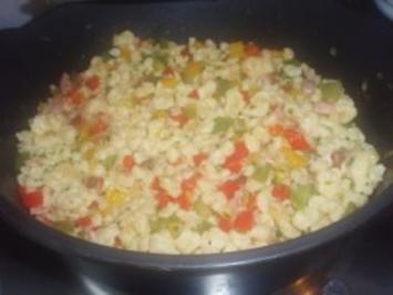 Gemüse & Co: Paprika-Schinken-Spätzle - Rezept