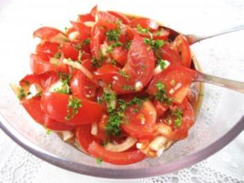 tomatensalat einfach rezept mit bild. Black Bedroom Furniture Sets. Home Design Ideas