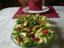 Avocado-Tomaten-Salat auf Lollo Bianco - Rezept