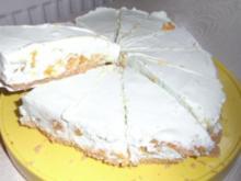 """Kühlschranktorte """"Waldmeister-Mandarinen-Löffelbiskuit-Torte"""" - Rezept"""
