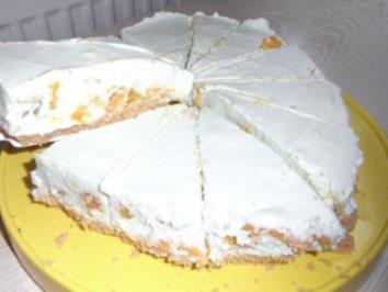 Kuhlschranktorte Waldmeister Mandarinen Loffelbiskuit Torte